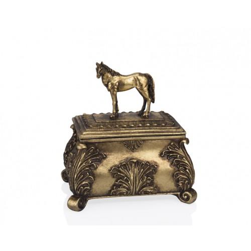 Porio PR12-1063 - Altın At Kapaklı Kutu 22*15*23