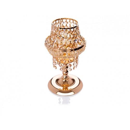 Porio PR14-1076 - Altın Kristal Mumluk 18*18*31