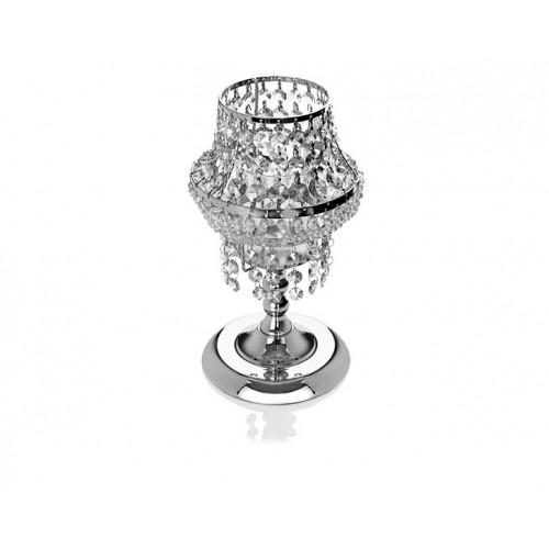 Porio PR14-1128 - Gümüş Kristal Mumluk 18*18*31