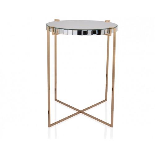 Porio PR18-1009 - Altın Aynalı Sehpa 50*50*60