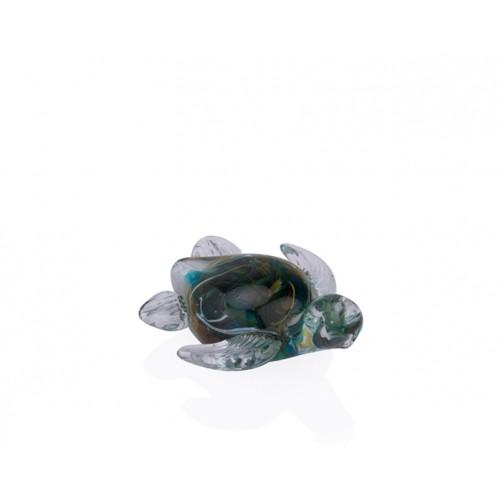 Porio PR36-1003 - Yeşil Ebruli Cam Kaplumbağa 11*10*5