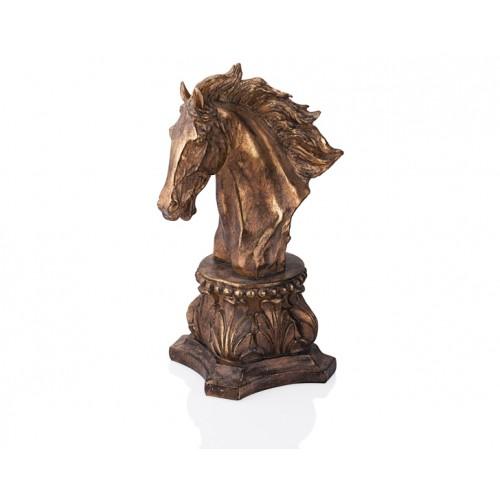 Porio PR39-1001 - Altın-Siyah At Kafası 41cm