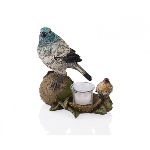 Porio PR39-1008 - Yumurtalı Renkli 2li Kuş 17cm