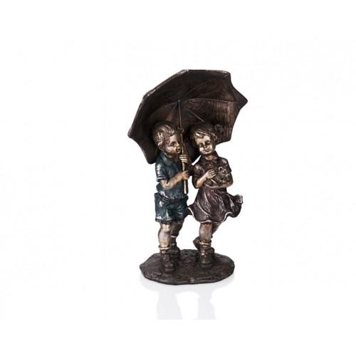 Porio PR39-1022 - Şemsiyeli Kız Erkek İnsan Fügüru 23cm
