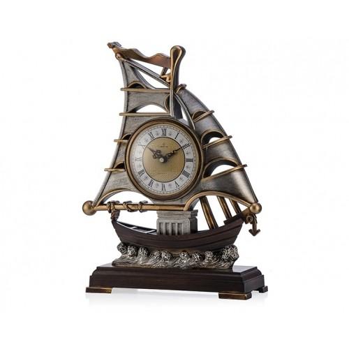 Porio Pr53-1022 - Gemi Şeklinde Masa Saati 41*32