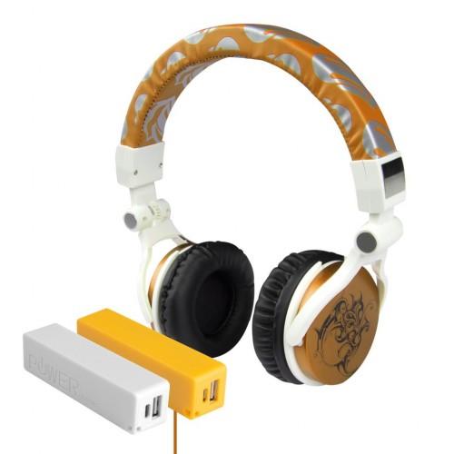 Pro Enjoy Set V9 HP-297 KULAKLIK GOLD+PB2600