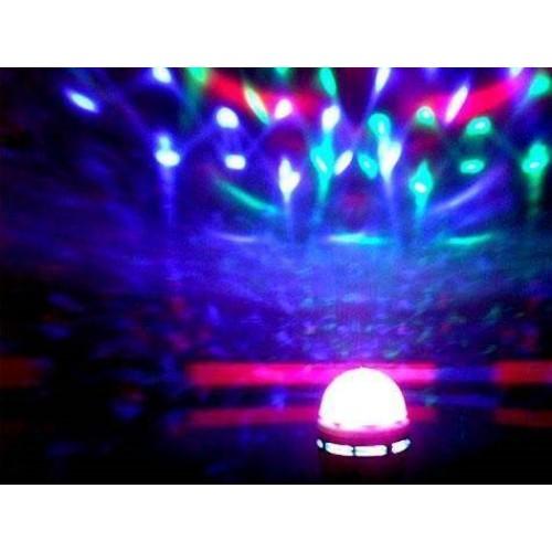 Renkli Led Döner Başlıklı Disko Ampulü
