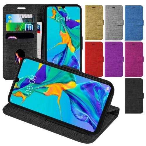 Samsung Galaxy A20S A207 Kılıf Yan Kapaklı Cüzdanlı ve Kartlıklı