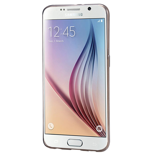 Samsung Galaxy S6 EDGE (G925) Silikon Arka Kılıf 0,3mm Şeffaf Siyah