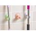 Vantuzlu Fırça Mop Tutucu Askı 2 Adet Birden Asorti