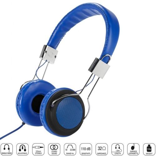 Vivanco Vivanco 34881-Street Style X-Bass Kulaklık-Mavi