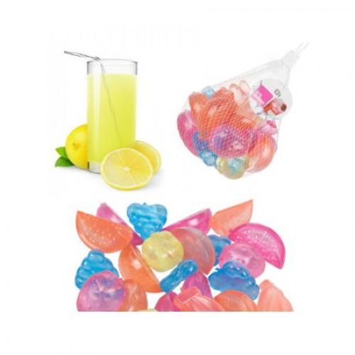 Eğlenceli Üzüm Limon Küp Şekilli Tükenmez Buzlar 16 Adet