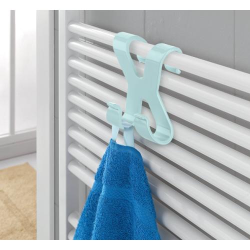 Hang it Pratik Havlupan Üstü 2 Kancalı Banyo Askısı Asorti