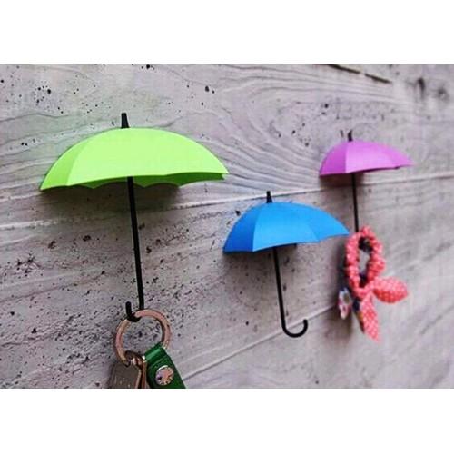 Yapışkanlı Dekoratif Şemsiye Askılar 3 lü Set