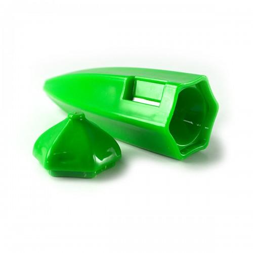 Yeşil Bamya Tasarımlı Plastik Pratik Bamya Soyacağı