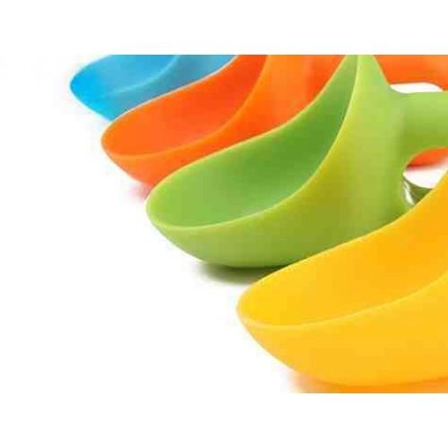 Rengarenk Plastik Dondurma Kaşıkları 4 Adet