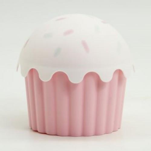 Plastik Cupcake Görünümlü Saklama Kabı 550 ML Asorti