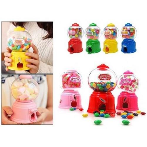 Mini Şeker Sakız Çocuk Oyuncak Makinesi Kumbara Asorti