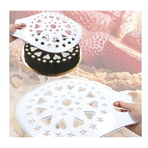 Kek Pasta Süsleme Şablonu Taşıyıcı Asorti