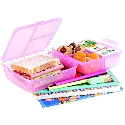 Lunch Box Pratik Bölmeli Beslenme Kutusu Asorti