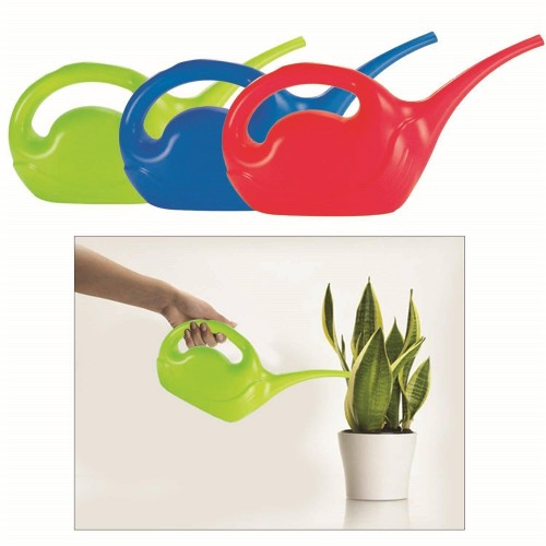 Kuğu Tasarımlı Yumuşak Plastik Çiçek Sulama Kabı 2 Litre Asorti