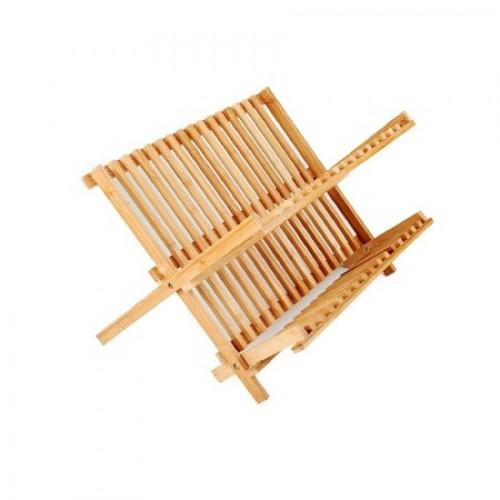 Bambu 2 Katlı Tabaklık Bardaklık Tezgah Üstü Bulaşıklık