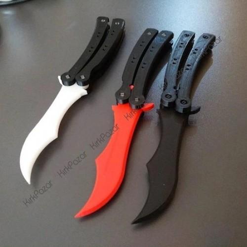 CS:GO Kelebek Bıçak Kelebek Alıştırma Bıçağı Gerçek Boyut